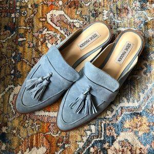 Steve Madden Blue Suede Loafers